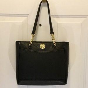 NWOT Black Leather Anne Klein Handbag